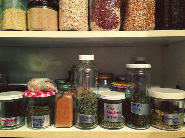herbs in my cabinet