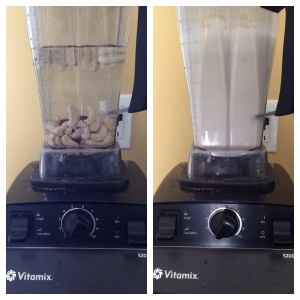 nut milk before and after