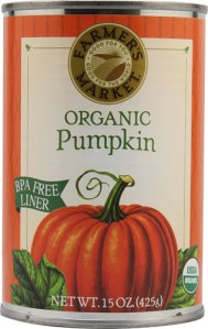pumpkin in a can