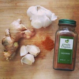 garlic, ginger and cayenne