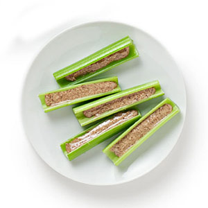 celery with almond butter