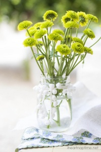 mason-jar-with-green-and-yellow-flowers