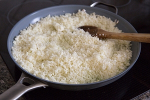 cauliflower rice in pan