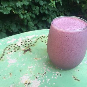 Amazing Blueberry Vanilla Protein Smoothie